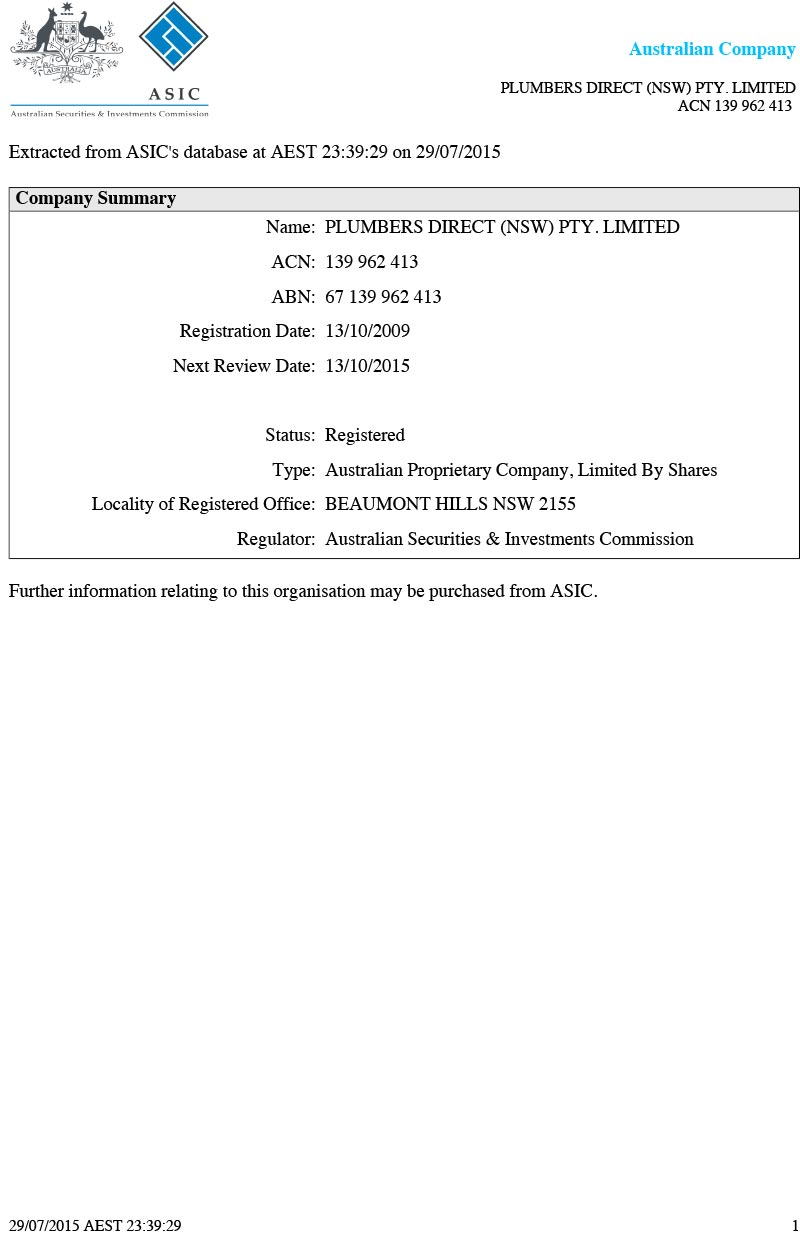 Licensing Amp Insurances Plumbers Direct Sydney Plumbers